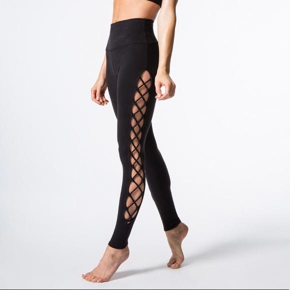 fdc06f669e ALO Yoga Pants   High Waist Interlace Legging   Poshmark
